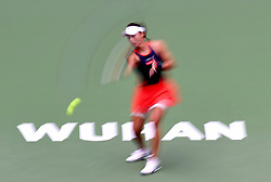 WUHAN, Sept. 28, 2018  Wang Qiang of China returns a shot during the singles semifinal match against Anett Kontaveit of Estonia at the 2018 WTA Wuhan Open tennis tournament in Wuhan, central China's Hubei Province, on Sept. 28, 2018. Anett Kontaveit advanced to the final after Wang Qiang withdrew due to injury. (Credit Image: © Wang Yuguo/Xinhua via ZUMA Wire)