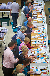 © Licensed to London News Pictures. 09/06/2017. Aylesbury, UK.  General view of the count for the Aylesbury constituency in the 2017 general election.   Photo credit: Cliff Hide/LNP