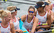 Lucerne, SWITZERLAND.  GBR W8+ Bright to left. Katie GREVES, Donna ETIEBET, Jessica EDDIE, Zoe LEE, Polly SWANN  Race for lanes  at the 2014 FISA WC III, Lake Rotsee.  11:51:49  Saturday  12/07/2014  [Mandatory Credit; Peter Spurrier/Intersport-images]