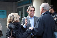 The President of Catalonia Artur Mas votes in Barcelona during the elections day. His party CIU calls for the Catalonia's Independence from Spain. 25th of November 2012