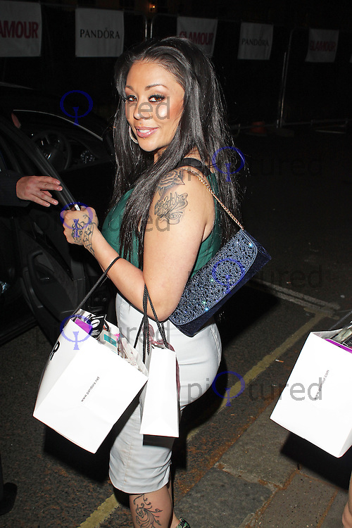 LONDON - June 04: Mutya Buena leaving the Glamour Awards 2013 (Photo by Brett D. Cove)