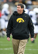 08 NOVEMBER 2008: Iowa Offensive Coordinator Ken O'Keefe during warmups before an NCAA college football game against Penn State, at Kinnick Stadium in Iowa City, Iowa on Saturday Nov. 8, 2008. Iowa beat Penn State 24-23.