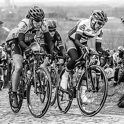 25-02-2017: Wielrennen: Omloop Het Nieuwsblad: Gent  <br /> GENT (BEL) <br /> Janneke Ensing op de fiets. De marathonschaatster wil dit voorjaar uitblinken op de racefiets