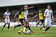Burton Albion midfielder Hope Akpan (21) scores a goal to make the score 1-0 during the EFL Sky Bet Championship match between Burton Albion and Bolton Wanderers at the Pirelli Stadium, Burton upon Trent, England on 28 April 2018. Picture by Richard Holmes.