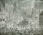 Under the influence of the American Revolution, the Patriots wanted a more democratic form of government. The opening shot of this revolution might be co—considered to be the manifesto published by Joan van der Capellen tot den Pol, the founder of the Patriots in 1781: In 1785 there was a open rebellion by the Patriots, which took the form of an armed insurrection by local militias determined to defend municipal democracies in certain Dutch towns. From 1780 to 1787, Engraving depicting a riot in Rotterdam in 1794