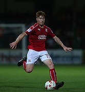 Swindon Tom Smith (15) on the ball during the EFL Trophy match between Swindon Town and U23 Chelsea at the County Ground, Swindon, England on 13 September 2016. Photo by Gary Learmonth.