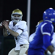 Salesianum quarterback Matt Sgro (3) attempts to throw a pass in the second quarter of the DIAA State Championship football game against Middletown Saturday, Nov. 30 2013, at Delaware Stadium in Newark Delaware.