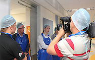 Media Activity during the gift handover by the Engen Extreme Racing Team to children in the new burn unit of the Red Cross Children's Hospital in Cape Town, South Africa on 29 September. Photo by Jacques Rossouw/SPORTZPICS