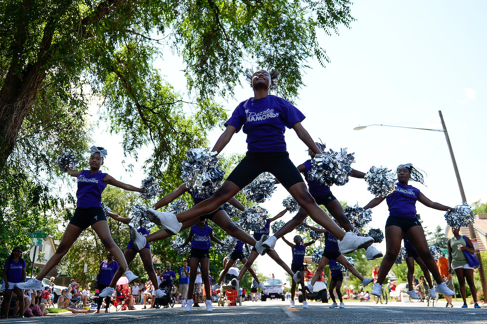 The Dazzling Diamonds perform during the seventh annual Park Hill Fourth of July Parade.