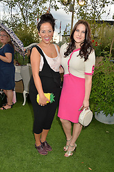 Left to right, LUISA OMIELAN and KAT SHOOB at a vintage fashion pop-up evening hosted by Dawn O'Porter at The Gardening Society, John Lewis, Oxford Street on 27th July 2016.