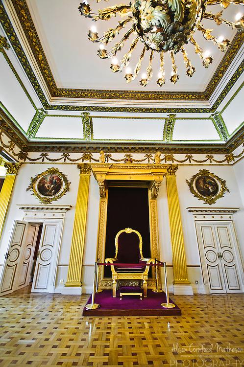 The throne room inside Dublin Castle.