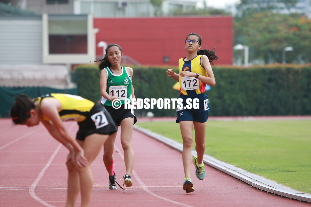 Bishan Stadium, Thursday, April 21, 2016 — Vanessa Lee of Victoria Junior College (VJC) clocked 5 minutes 6.61 seconds to clinch the A Division Girls' 1500 metres gold at the 57th National Schools Track and Field Championships.