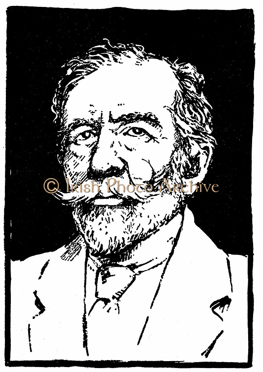Joseph Conrad (1857-1924). Polish-born British novelist. Woodblock.