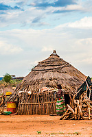 Hamer tribe village, Omo Valley, Ethiopia.