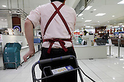 male person working in a supermarket Japan