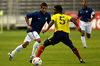 FOOTBALL - UNDER 21 - INTERNATIONAL TOULON FESTIVAL 2011 - FINAL - COLOMBIA v FRANCE - 10/06/2011 - PHOTO PHILIPPE LAURENSON / DPPI - KNOCKAERT ANTONY (FRA) / QUINONES CORTES HECTOR (COL)