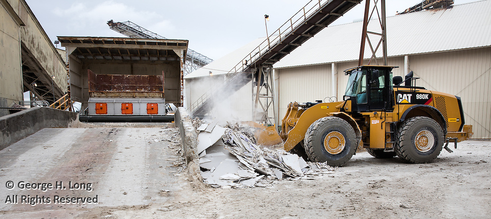 gypsum recycler at National Gypsum Plant in Westwego, Louisiana
