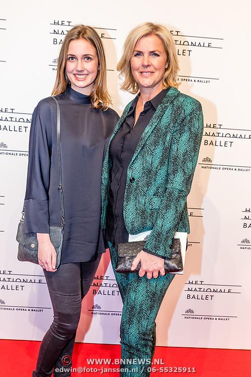 NLD/Amsterdam/20170320 - Onegin – Het Nationale Ballet premiere, Irene Moors en dochter Rosalie