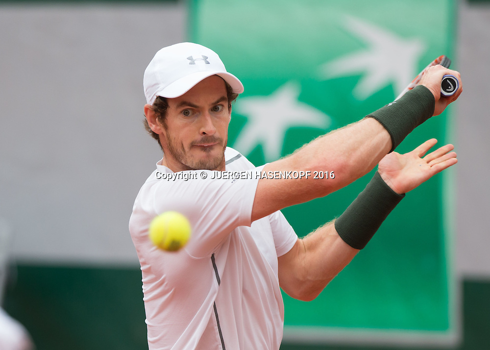 Andy Murray (GBR) Herren Finale, Endspiel,<br /> <br /> Tennis - French Open 2016 - Grand Slam ITF / ATP / WTA -  Roland Garros - Paris -  - France  - 5 June 2016.