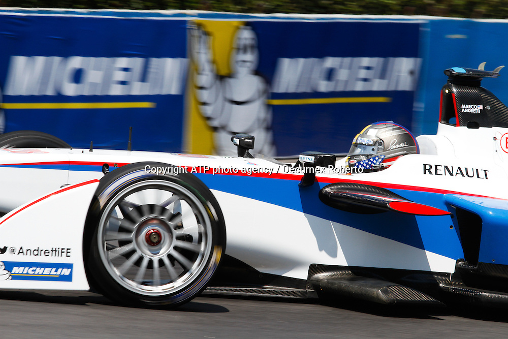 Marco Andretti, USA , Andretti FormulaE racing,<br /> Buenos Aires; January 10th 2015, E-Prix, FIA Formula E, <br /> fee liable image, copyright@ ATP Decurnex Roberto