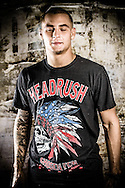 LONDON, ENGLAND, FEBRUARY 13, 2013: Dustin Poirier poses for a portrait ahead of the pre-fight press conference for UFC on Fuel TV 7 inside London Shootfighters Gym in Park Royal, London, England on Wednesday, February 13, 2013 © Martin McNeil