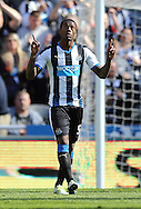 Georginio Wijnaldum (5) of Newcastle United celebrates scoring to make it 3-1 during the Barclays Premier League match at St. James's Park, Newcastle<br /> Picture by Simon Moore/Focus Images Ltd 07807 671782<br /> 15/05/2016