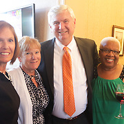 Left to right, Kathleen Beer, Barbara Rydell, Bill Beer, and Arlene Holmes pose for a photo during Juice, Jazz & Java Saturday September 6, 2014 at Cape Fear National Golf Course in Leland, N.C. (Jason A. Frizzelle)