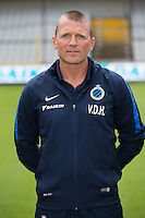Club's assistant coach Stephan Van der Heyden poses for the photographer during the 2015-2016 season photo shoot of Belgian first league soccer team Club Brugge, Friday 17 July 2015 in Brugge