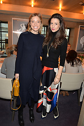 LONDON, ENGLAND 2 DECEMBER 2016: <br /> Left to right, Johanna Dunn, Shirley Leigh-Wood Oakes at a breakfast attended by a host of influencers, press and VIPs to celebrate the official launch of EVARAE the new British luxury resort wear brand, held at The Hari Hotel, 20 Chesham Place, London.  England. 2 December 2016.