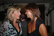 Princess Chantal of Hanover and  Countess Leopold von Bismarck. Tod's hosts Book signing with Dante Ferretti celebrating the launch of 'Ferretti,- The art of production design' by Dante Ferretti. after-party at San Lorenzo. 19 April 2005.  ONE TIME USE ONLY - DO NOT ARCHIVE  © Copyright Photograph by Dafydd Jones 66 Stockwell Park Rd. London SW9 0DA Tel 020 7733 0108 www.dafjones.com