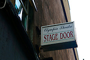 Stage door of Olympia Theatre, Dublin.