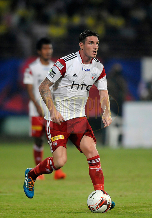 James Keene of NorthEast United FC during match 49 of the Hero Indian Super League between Kerala Blasters FC and North East United FC held at the Jawaharlal Nehru Stadium, Kochi, India on the 30th November.<br /> <br /> Photo by:  Pal Pillai/ ISL/ SPORTZPICS