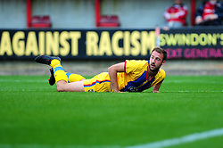 Crystal Palace's Glen Murray looks towards the referee after being fouled - Photo mandatory by-line: Dougie Allward/Josephmeredith.com  - Tel: Mobile:07966 386802 08/08/2012 - SPORT - FOOTBALL - Pre Season - Friendly - Swindon  - County Ground - Swindon Town V Crystal Palace