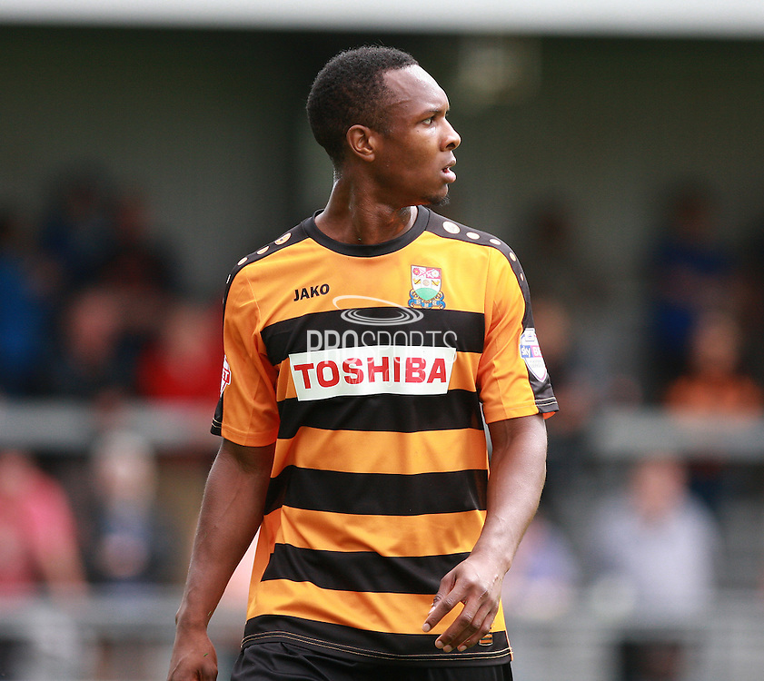 Barnet player Gavin Hoyte during the Sky Bet League 2 match between Barnet and Wycombe Wanderers at The Hive Stadium, London, England on 15 August 2015. Photo by Bennett Dean.