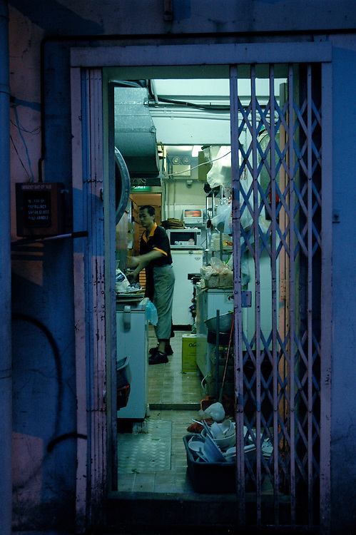 What's behind the scene? Who's responsible for the nicely dressed food? I'm fascinated about the discrepancy of the look of the kitchen and the restaurant.<br /> <br /> This photos were part of a group exhibition at objectifs in July/August 2009