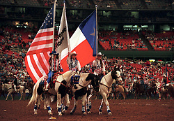 Flag riders at the Houston rodeo