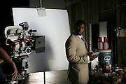 LOS ANGELES - JULY 19:  Linebacker Jonathan Vilma of the New York Jets during a break in the filming of the NFL's 2005 Super Bowl XL television ad campaign in Los Angeles, California on July 19, 2005. ©Paul Anthony Spinelli *** Local Caption *** Jonathan Vilma