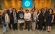 Houston ISD trustee Anna Eastman recognizes staff in honor of Educational Support Professionals Day during the Board of Education meeting, November 13, 2014.