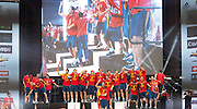Euro 2012: Celebration<br /> Spain's Euro 2012 championship soccer team arrives to Madrid