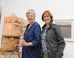 Artist Deirdre Walsh and Ciara Torbet enjoying Culture Night at the Custom House studio Westport. <br />Pic Conor McKeown