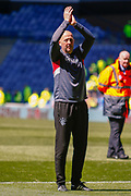 Rangers Assistant Manager Gary McAllister applauds the fans following the Ladbrokes Scottish Premiership match between Rangers and Celtic at Ibrox, Glasgow, Scotland on 12 May 2019.
