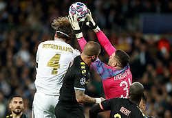 Ederson of Manchester City seen in action during the UEFA Champions League round of 16 first leg match Real Madrid v Manchester City at Santiago Bernabeu stadium on February 26, 2020 in Madrid, Sdpain. Real was defeated 1-2. Photo by Manu R.B.AlterPhotos/ABACAPRESS.COM