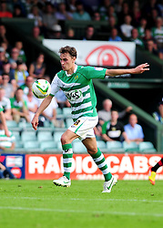 Yeovil Town's Edward Upson prepares to volley the ball towards goal - Photo mandatory by-line: Dougie Allward/Josephmeredith.com  - Tel: Mobile:07966 386802 08/09/2012 - SPORT - FOOTBALL - League 1 -  Yeovil  - Huish Park -  Yeovil Town v AFC Bournemouth