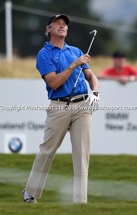 David Cobcroft during round one of the 2015 BMW New Zealand Golf Open, Millbrook Resort, Arrowtown, New Zealand Thursday 12 March 2015. Copyright Photo: Andrew Cornaga / www.photosport.co.nz