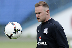 England Training Wayne Rooney, Training ahead of their game against Sweden in the UEFA Euro 2012. June 13, 2012. Photo by Imago/i-Images.All Rights Reserved ©imago/i-Images .Contact Agency for fees before use...One use only. Re-Use Fees apply