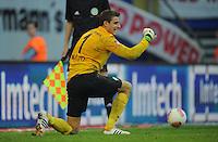 FUSSBALL   1. BUNDESLIGA   SAISON 2012/2013   LIGA TOTAL CUP  FC Bayern Muenchen - SV Werder Bremen       04.08.2012 Sebastian Mielitz (SV Werder Bremen) jubelt