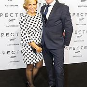 NLD/Amsterdam/20151028 - Premiere James Bondfilm Spectre, Eric de Zwart en partner Marika van den Brink