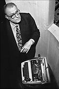Nederland, Nijmegen, 2-3-1995 W.F., Willem Frederik Hermans auteur, schrijver enkele weken voor zijn dood.Foto: Flip Franssen/ Hollandse Hoogte