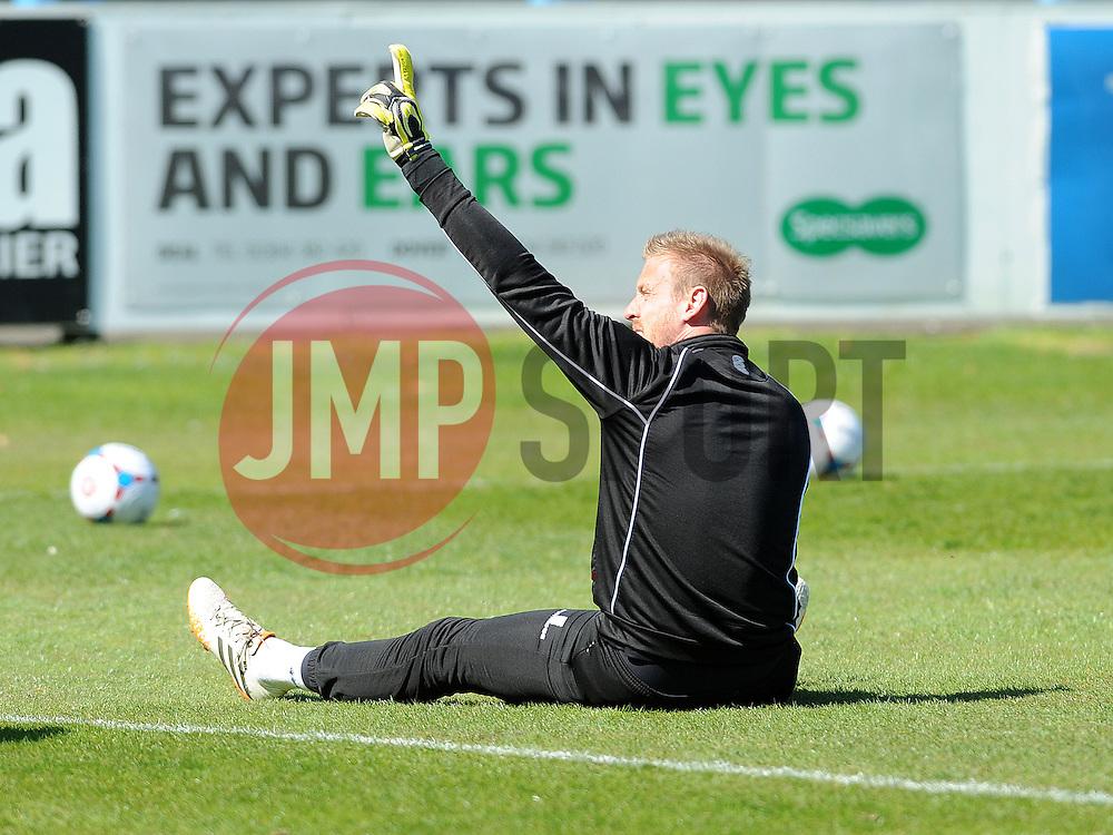 Bristol Rovers' Steve Mildenhall - Photo mandatory by-line: Neil Brookman/JMP - Mobile: 07966 386802 - 18/04/2015 - SPORT - Football - Dover - Crabble Athletic Ground - Dover Athletic v Bristol Rovers - Vanarama Football Conference