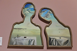 Salvador Dali, Couple with their Heads in the Clouds, Scottish National Gallery of Modern Art  (Modern One) Surreal Encounters Collection, Edinburgh, 2nd June 2016, <br /> (c) Brian Anderson   Edinburgh Elite media
